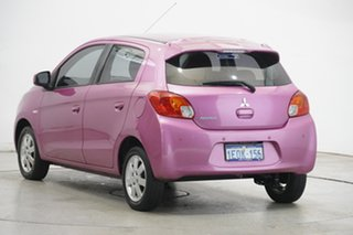 2014 Mitsubishi Mirage LA MY14 ES Pink 1 Speed Constant Variable Hatchback