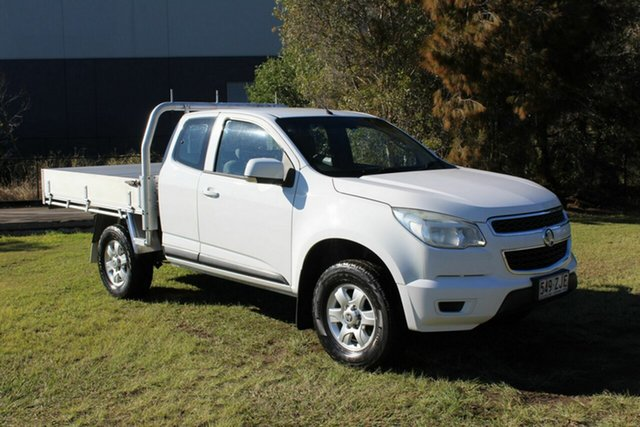 Used Holden Colorado RG MY13 LX Space Cab Ormeau, 2013 Holden Colorado RG MY13 LX Space Cab White 5 Speed Manual Cab Chassis
