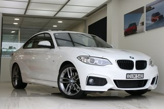 2017 BMW 2 Series F22 220i Sport Line White 8 Speed Sports Automatic Coupe.