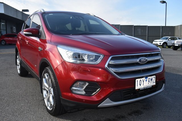 Used Ford Escape ZG 2018.00MY Titanium Wantirna South, 2018 Ford Escape ZG 2018.00MY Titanium Red 6 Speed Sports Automatic SUV