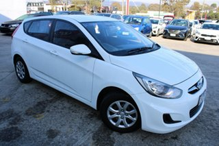 2013 Hyundai Accent RB Active White 4 Speed Sports Automatic Hatchback.