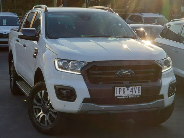 Used Ford Ranger PX MkIII 2019.00MY Wildtrak Seaford, 2019 Ford Ranger PX MkIII 2019.00MY Wildtrak Black 10 Speed Sports Automatic Double Cab Pick Up