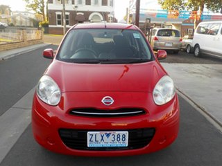 2012 Nissan Micra K13 ST Red 4 Speed Automatic Hatchback.