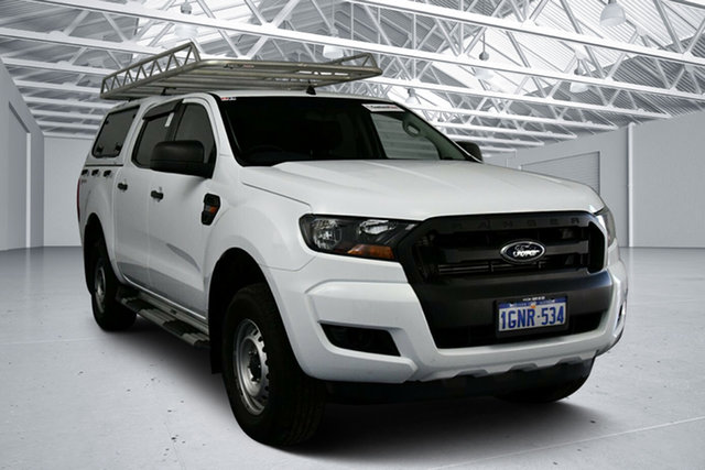 Used Ford Ranger PX MkII MY18 XL 2.2 Hi-Rider (4x2) Perth Airport, 2018 Ford Ranger PX MkII MY18 XL 2.2 Hi-Rider (4x2) Cool White 6 Speed Automatic Crew Cab Pickup