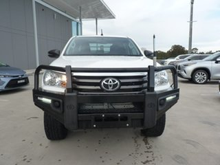 2018 Toyota Hilux GUN126R SR Double Cab Glacier White 6 Speed Sports Automatic Cab Chassis.