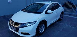 2013 Honda Civic FK VTi-S White 5 Speed Automatic Hatchback.
