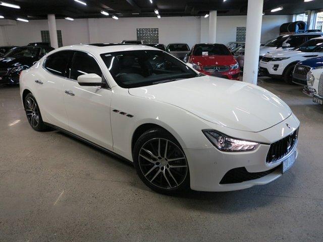 Used Maserati Ghibli M157 MY17 Albion, 2017 Maserati Ghibli M157 MY17 White 8 Speed Sports Automatic Sedan