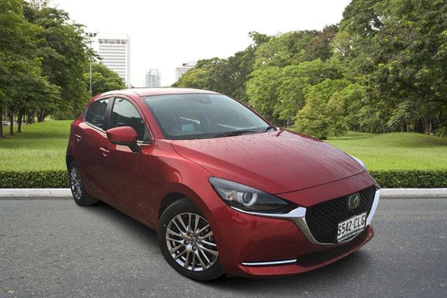 Demo Mazda 2 DJ2HAA G15 SKYACTIV-Drive GT Paradise, 2021 Mazda 2 DJ2HAA G15 SKYACTIV-Drive GT Soul Red 6 Speed Sports Automatic Hatchback