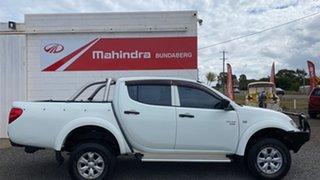 2011 Mitsubishi Triton MN MY11 GL-R (4x4) White Manual Dual Cab.