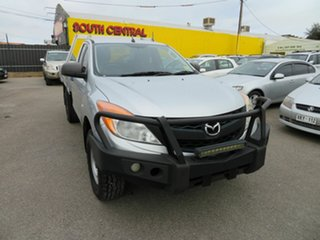 2014 Mazda BT-50 MY13 XT (4x4) Silver 6 Speed Manual Cab Chassis.