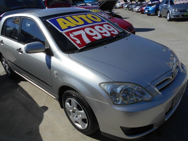 Used Toyota Corolla ZZE122R 5Y Ascent Springwood, 2007 Toyota Corolla ZZE122R 5Y Ascent Silver 4 Speed Automatic Hatchback