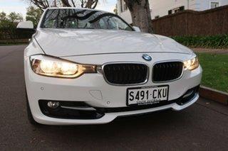 2013 BMW 3 Series F30 MY0813 320i White 8 Speed Sports Automatic Sedan