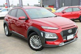 2019 Hyundai Kona OS.2 MY19 Elite 2WD Red 6 Speed Sports Automatic Wagon.