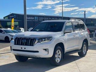 2019 Toyota Landcruiser Prado GXL White Sports Automatic Wagon.