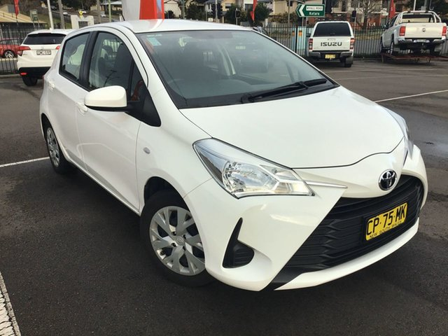 Used Toyota Yaris NCP130R Ascent Cardiff, 2018 Toyota Yaris NCP130R Ascent White 4 Speed Automatic Hatchback