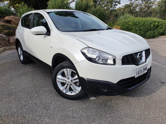 Used Nissan Dualis J10W Series 4 MY13 ST Hatch X-tronic 2WD Totness, 2013 Nissan Dualis J10W Series 4 MY13 ST Hatch X-tronic 2WD White 6 Speed Constant Variable