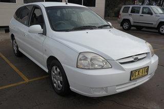 2004 Kia Rio MY04 LS White 5 Speed Manual Hatchback.
