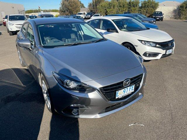 Used Mazda 3 BM5438 SP25 SKYACTIV-Drive Devonport, 2014 Mazda 3 BM5438 SP25 SKYACTIV-Drive Silver 6 Speed Sports Automatic Hatchback