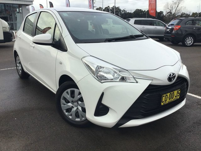 Used Toyota Yaris NCP130R Ascent Cardiff, 2017 Toyota Yaris NCP130R Ascent White 4 Speed Automatic Hatchback