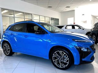 2021 Hyundai Kona Os.v4 MY21 N-Line D-CT AWD Surfy Blue 7 Speed Sports Automatic Dual Clutch Wagon.
