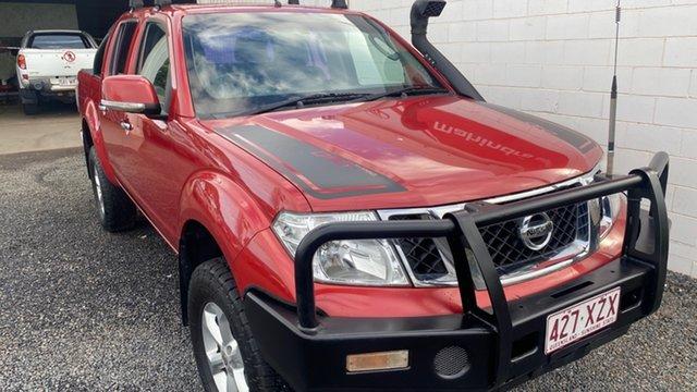 Used Nissan Navara D40 Bundaberg, 2012 Nissan Navara D40 ST 4X4 Red Manual Dual Cab