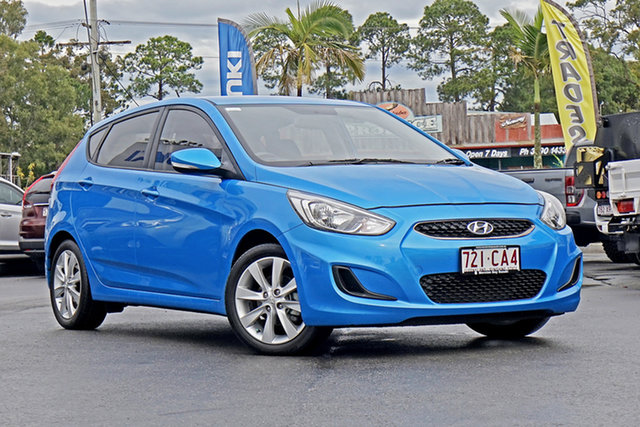 Used Hyundai Accent RB6 MY18 Sport Chandler, 2018 Hyundai Accent RB6 MY18 Sport Blue 6 Speed Sports Automatic Hatchback