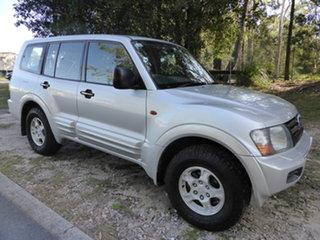 2000 Mitsubishi Pajero NM GLS LWB (4x4) Silver 5 Speed Manual 4x4 Wagon.