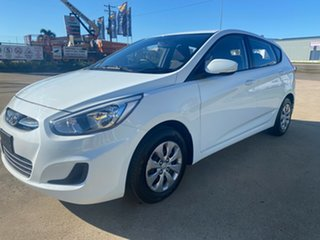 2016 Hyundai Accent RB4 MY16 Active White/221216 6 Speed Constant Variable Hatchback
