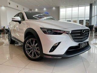 2021 Mazda CX-3 DK2W7A Akari SKYACTIV-Drive FWD LE White 6 Speed Sports Automatic Wagon.
