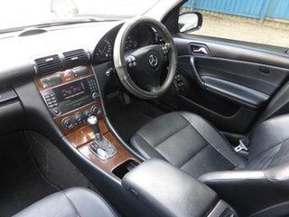 2005 Mercedes-Benz C180 W203 MY06 Kompressor Classic Absolute Black 5 Speed Auto Tipshift Sedan.