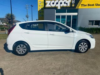 2016 Hyundai Accent RB4 MY16 Active White/221216 6 Speed Constant Variable Hatchback.