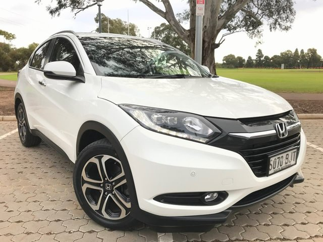 Used Honda HR-V MY15 VTi-L Adelaide, 2015 Honda HR-V MY15 VTi-L White 1 Speed Constant Variable Hatchback