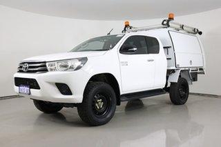 2016 Toyota Hilux GUN126R SR (4x4) White 6 Speed Manual X Cab Utility.