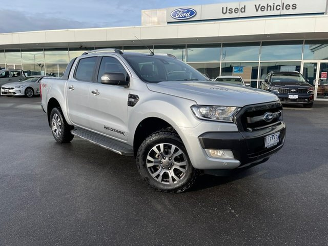 Used Ford Ranger PX MkII Wildtrak Double Cab Essendon Fields, 2017 Ford Ranger PX MkII Wildtrak Double Cab Silver 6 Speed Sports Automatic Utility