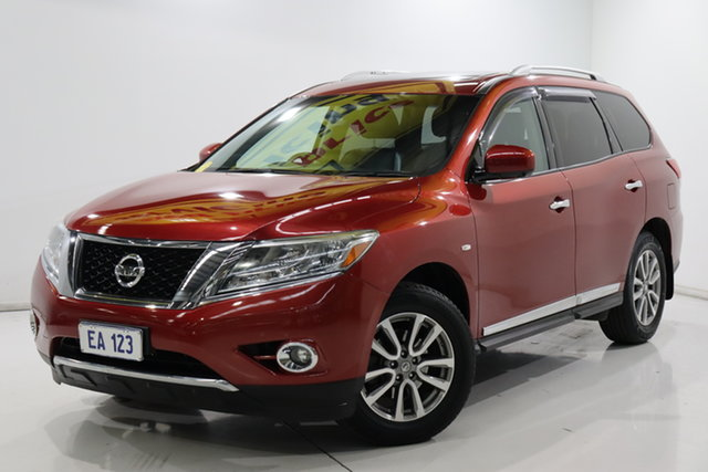 Used Nissan Pathfinder R52 MY15 ST-L X-tronic 2WD Brooklyn, 2015 Nissan Pathfinder R52 MY15 ST-L X-tronic 2WD Red 1 Speed Constant Variable Wagon