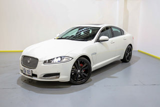 2013 Jaguar XF X250 MY13 Luxury White 8 Speed Sports Automatic Sedan.