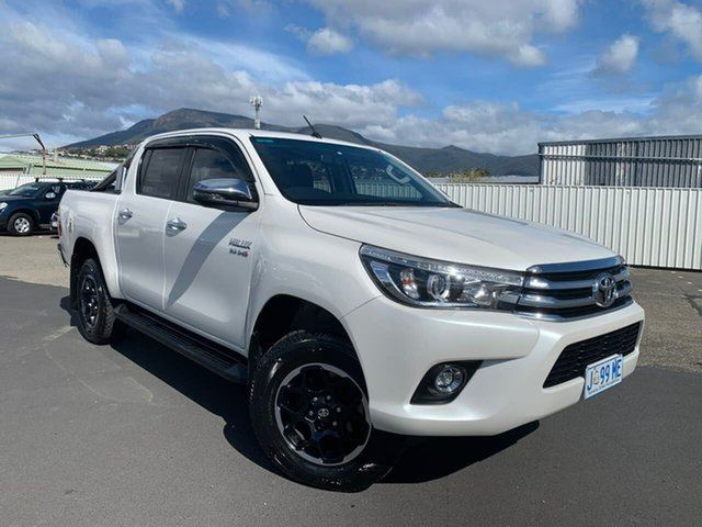 Used Toyota Hilux GUN126R SR5 Double Cab Hobart, 2017 Toyota Hilux GUN126R SR5 Double Cab White 6 Speed Sports Automatic Utility