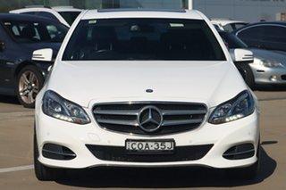 2013 Mercedes-Benz E-Class W212 MY13 E200 7G-Tronic + White 7 Speed Sports Automatic Sedan