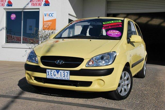 Used Hyundai Getz TB MY09 S Wendouree, 2009 Hyundai Getz TB MY09 S Yellow 5 Speed Manual Hatchback