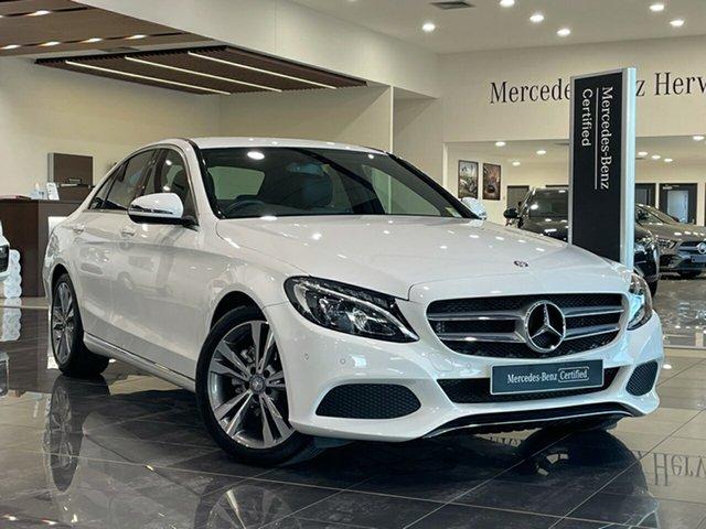 Used Mercedes-Benz C-Class W205 807MY C200 7G-Tronic + Hervey Bay, 2016 Mercedes-Benz C-Class W205 807MY C200 7G-Tronic + White 7 Speed Sports Automatic Sedan