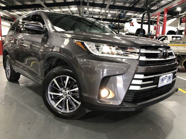 Pre-Owned Toyota Kluger GSU50R GXL (4x2) Oakleigh, 2018 Toyota Kluger GSU50R GXL (4x2) Predawn Grey 8 Speed Automatic Wagon