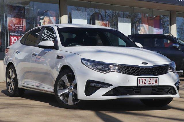 Used Kia Optima JF MY19 GT Toowoomba, 2019 Kia Optima JF MY19 GT White 6 Speed Sports Automatic Sedan