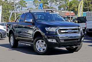 2017 Ford Ranger PX MkII XLT Super Cab Jet Black 6 Speed Sports Automatic Utility.