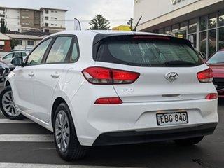 2018 Hyundai i30 PD MY19 Go Ceramic White 6 Speed Sports Automatic Hatchback.