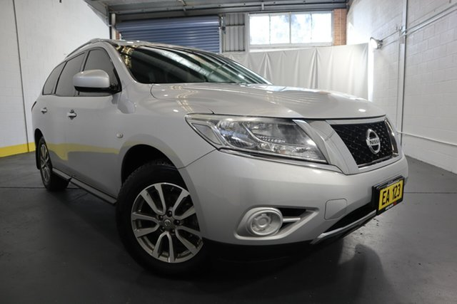 Used Nissan Pathfinder R52 MY15 ST X-tronic 2WD Castle Hill, 2015 Nissan Pathfinder R52 MY15 ST X-tronic 2WD Silver 1 Speed Constant Variable Wagon