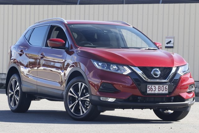Demo Nissan Qashqai J11 Series 3 MY20 ST-L X-tronic Bundamba, 2021 Nissan Qashqai J11 Series 3 MY20 ST-L X-tronic Magnetic Red 1 Speed Constant Variable Wagon