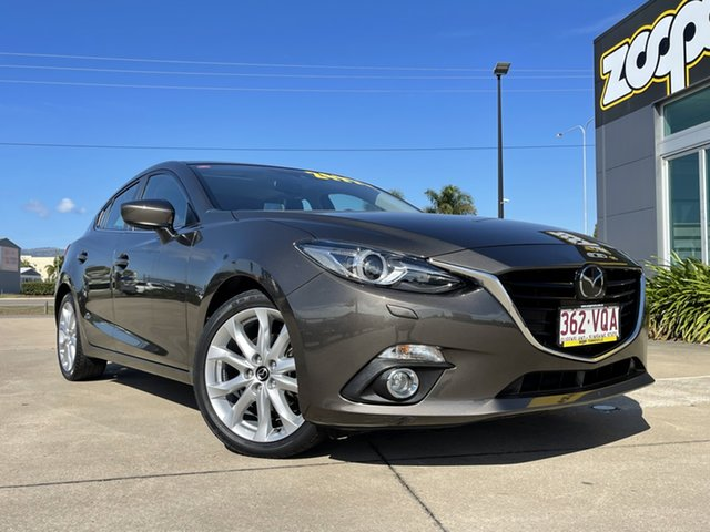 Used Mazda 3 BM5438 SP25 SKYACTIV-Drive Astina Townsville, 2015 Mazda 3 BM5438 SP25 SKYACTIV-Drive Astina Grey/180815 6 Speed Sports Automatic Hatchback