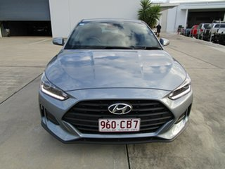 2019 Hyundai Veloster JS MY20 Coupe Silver 6 Speed Automatic Hatchback.