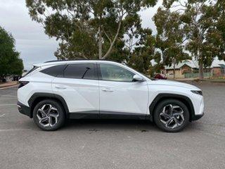 2021 Hyundai Tucson NX4.V1 MY22 Highlander D-CT AWD White Cream 7 Speed Sports Automatic Dual Clutch