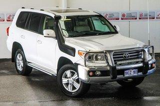 2013 Toyota Landcruiser VDJ200R MY13 VX (4x4) Glacier White 6 Speed Automatic Wagon.